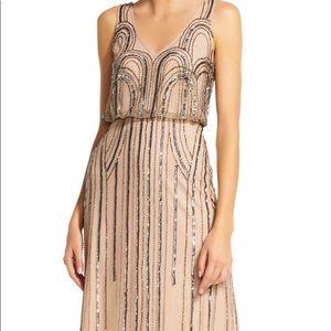 🌟Stunning Adrianna Papell Blouson gown Art Deco💖